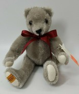 """limited edition Merry Thought 6"""" gray Bear #365 of 500 - $43.55"""