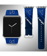 St. Louis Blues Apple Watch Band 38 40 42 44 mm Fabric Leather Strap 01 - $29.97