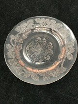 """Dogwood Pink Depression Ware Glass Bread Butter Glass 6"""" Plate  - $12.82"""