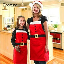 Tronzo New Arrival Christmas Santa Claus Apron Christmas Decorations for Home Re - $6.89