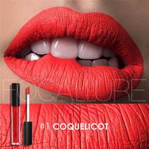 FOCALLURE Matte Liquid Lipstick Waterproof Long-lasting Lip Gloss Pigment Dark P - $8.68