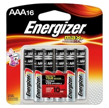 NEW Energizer Max AAA 16 Pack Exp 2023+ Alkaline Battery Batteries - $9.99