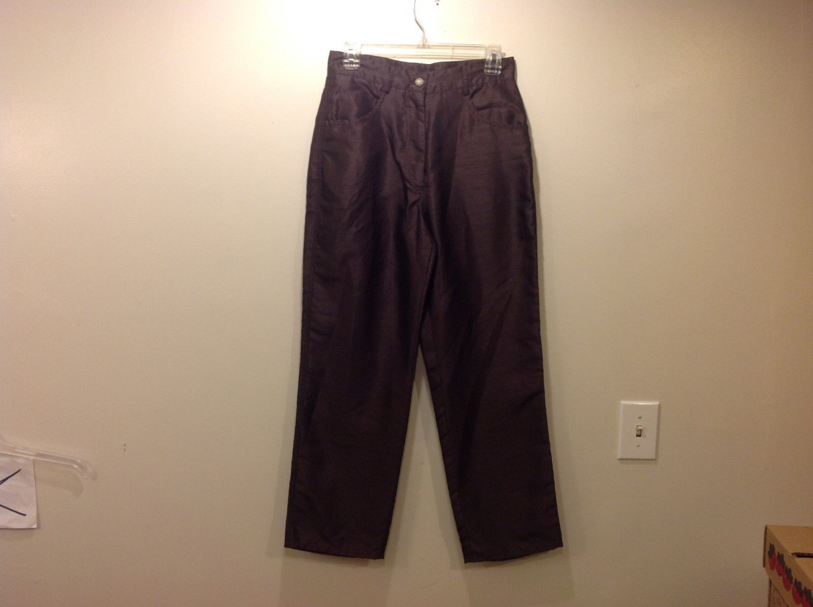 Tasha Polizzi Nice Cool Fancy Brown Dress Pants Sz 8