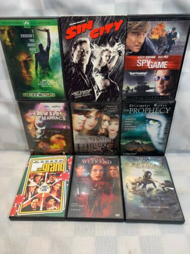 Primary image for (9 DVD Lot) Sin City Killer Weekend Spy Game Raving Maniacs The Grand One Bak 2