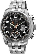Mens Watch Citizen AT9010-52E Eco-Drive Radio Controlled World Time Stainless S - $425.69