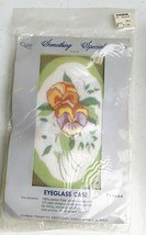 Something Special Pansy FLowers Fine Gauge Needlepoint Eye Glass Case Ki... - $11.99