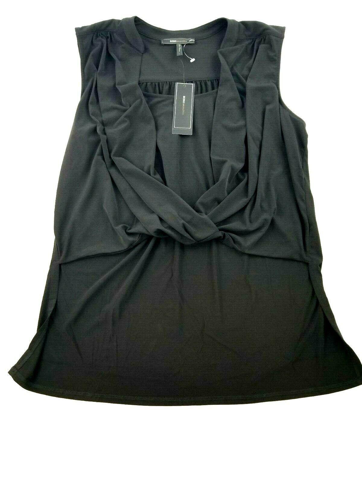 new BCBG MAXAZRIA women blouse YDM1242720-001 052019 black L MSRP $138 - $39.59