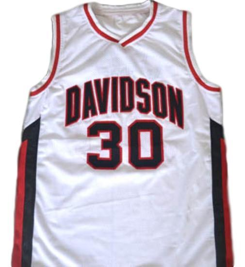Stephen curry  30 davidson college wildcats basketball jersey white 1