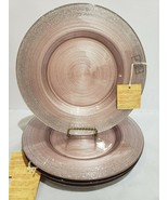 x2 TURKISH DELIGHTS BLUSH PINK SILVER SPARKLE GLASS DINNER PLATES EASTER - $34.99