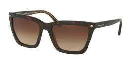 NIB COACH Dark Tortoise/ Dark Tortoise Gold Sunglasses--HC8191 - $79.99