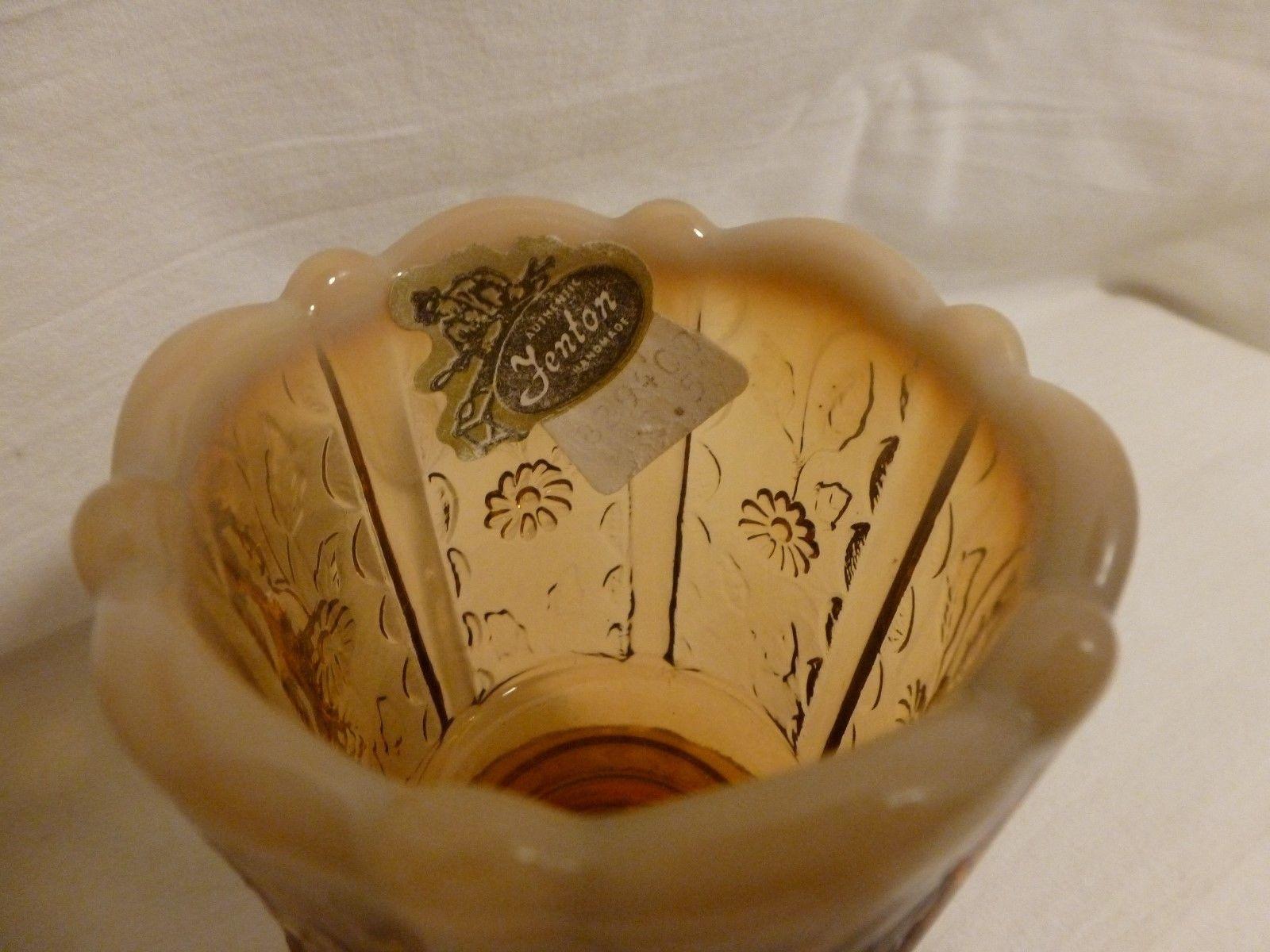 3 pc lot~ Fenton Glass trinket dish,opalescent toothpick holder & flower votive
