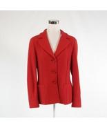 Dark orange wool TRIXI SCHOBER stretch long sleeve blazer jacket 10 - $34.99