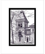 Frederick Church's Olana, Pen and Ink Print - $29.00