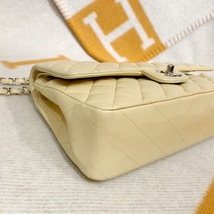 SALE* AUTHENTIC Chanel Quilted Lambskin Classic Medium Beige Double Flap Bag SHW image 6