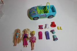 Polly Pocket lot car dolls cloths boots - $17.95
