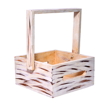 Rustic Wooden Handmade Container Storage House ware Storage Basket with ... - $62.95