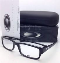 New OAKLEY Eyeglasses SERVO OX 1066-0155 55-18 Polished Black Rectangular Frame