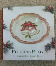 FITZ & FLOYD Essentials HOLIDAY BELLS Canape Plate NEW IN BOX - $19.99