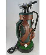 """Vintage Golf Clubs Bag Corded Phone Telephone 17"""" Golfer Push Button Gre... - $30.00"""
