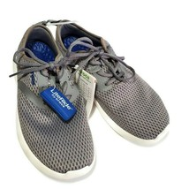 Crocs LiteRide Sneaker Gym Shoes Mens Size 9 Mesh Lace Up Gray Silver NW... - $44.50