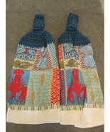 Crochet Top Kitchen Towels With Lobsters Blue Top - $6.00