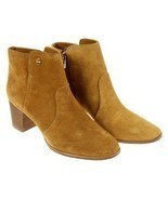 Tory Burch Sabe Suede Ankle Boots Camel Brown Bootie Size 10 Shoes New - $188.09