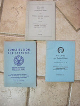 Lot of 3 1945 1948 1960 Order of Elks By Laws Constitution Statutes Terr... - $41.04