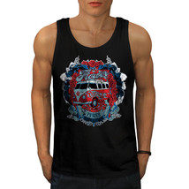 Flower Power Hippy Tee Camper Van Men Tank Top - $12.99