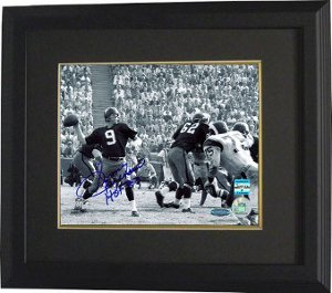 Primary image for Sonny Jurgensen signed Washington Redskins B&W 16X20 Photo HOF 83 Custom Framed-