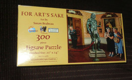 "Sunsout ""For Art's Sake"" Art By Susan Brabeau 300 Piece Jigsaw Puzzle - $9.90"
