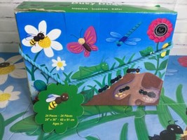 "Mudpuppy Busy Bugs Great Big Floor Puzzle 24 Big Pieces 24"" x 36"" Toddler Child - $14.01"