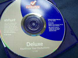 Turbotax tax year 2011  Federal & State returns Deluxe Intuit  v11.00R c... - $14.84
