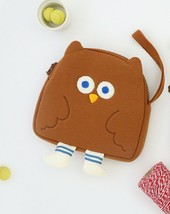 Brunch Brother Flying Owl Pouch Cosmetic Bag Case Organizer (Brown) image 2