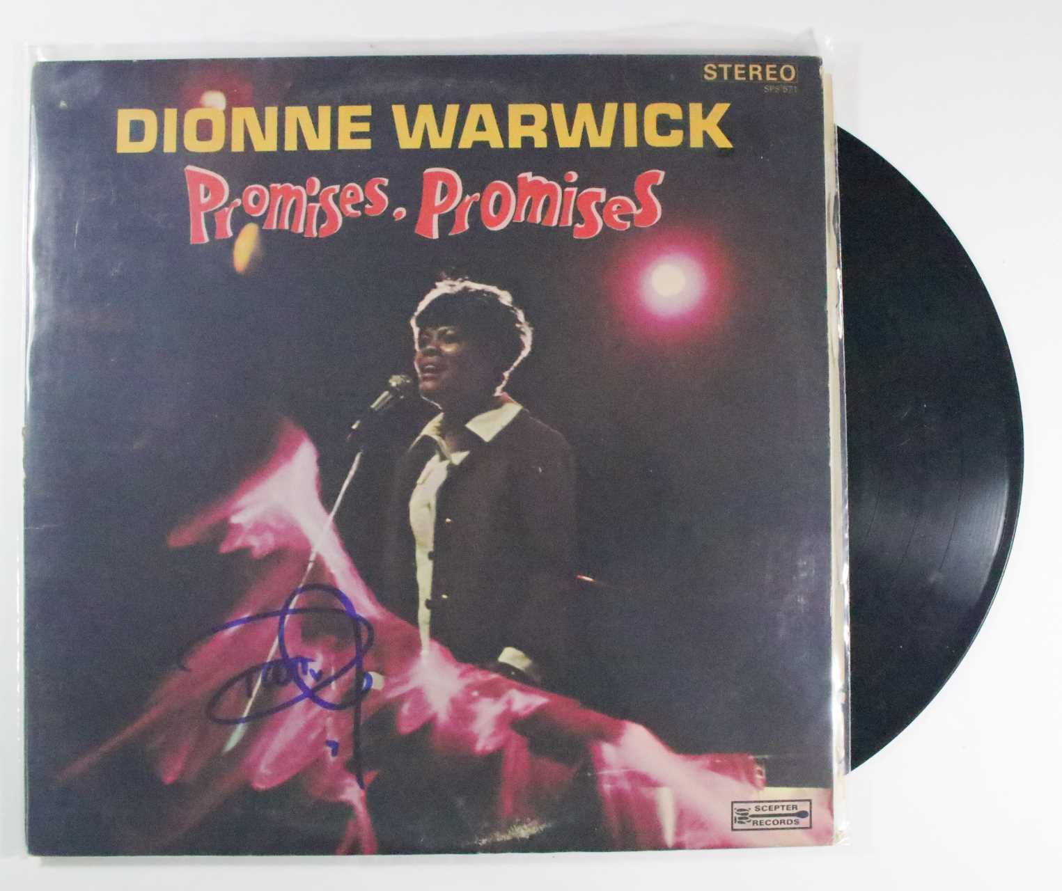 "Primary image for Dionne Warwick Signed Autographed ""Promises Promises"" Record Album"