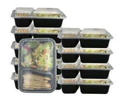 Set of 7 Reusable 2 Compartment Bento Box Lunch Containers - $17.99