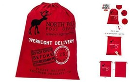 "Blank Santa Sack 19.7""x27.6"" Large Size Christmas Bag with Drawstring, ... - $12.46"