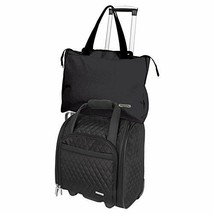 """Wheeled 14"""" Underseat Carry-On Suitcase With Back-Up Bag Travel Luggage ... - $95.03"""