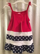 NWT Gymboree Girls Red, White, Blue, Cotton Dress Outfit Sleeveless 3-6 mos - $25.00