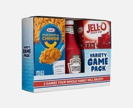 NEW SEALED 2020 Heinz Ketchup / Kraft Macaroni /Jello 3 Board Game Set b... - $37.14