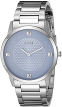 GUESS Men U0428G2 Diamond Accent Silvertone Stainless Steel  - $78.21