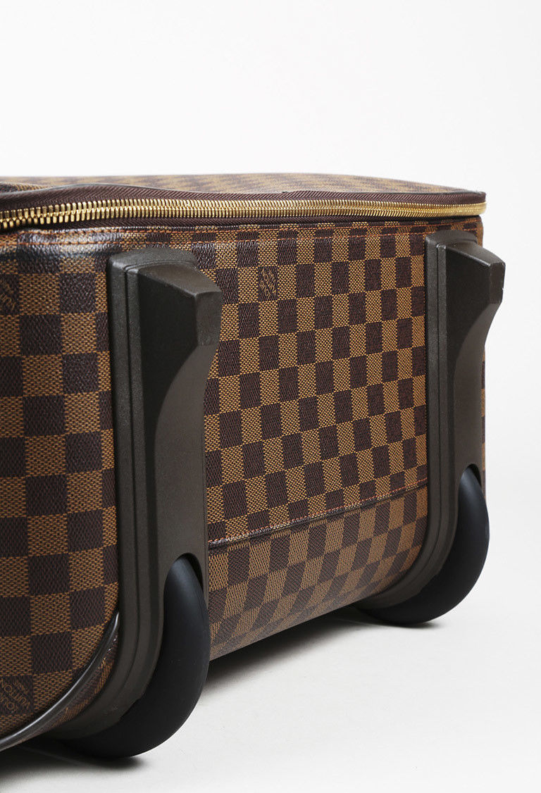 "Louis Vuitton Damier Ebene Coated Canvas ""Pegase 65"" Suitcase"