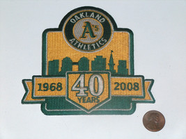 """Oakland A's MLB 1968-2008 Embroidered 4.25"""" Town City Skyline 40 Years P... - $9.88"""
