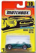 Matchbox - Dodge Viper RT/10: 1-75 Series #10/75 (1997) *Green Edition* - $3.50