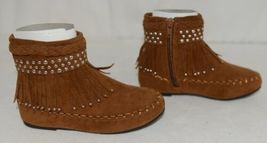 I Love Yo Kids AVA 78K Girls Fringe Boot Rust Silver Studded Size 11 image 3