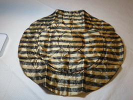 Avon Lace Print Jewelry Pouch draw string black gold F3484251 NEW - $29.59