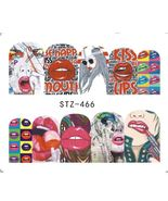 "HS Store -1 Sheets Funny Nail Sticker Water Decals Nail Art Kode ""STZ466"" - $2.52"