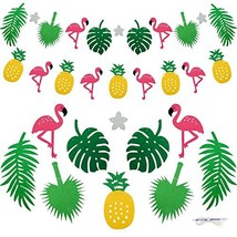 Keklle Flamingo Pineapple Tropical Leaves Banner Garland For Room Decora... - ₨653.80 INR