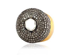 Awesome Victorian Inspir. 1.93Ctw Rose Cut Diamond Silver Polki Ring - $454.96