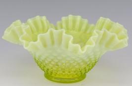 "Vintage Fenton Art Glass Topaz Hobnail 9 1/2"" Bowl, c1960 No Logo - $59.96"