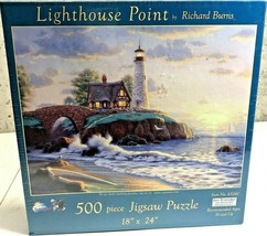 Lighthouse Point by Richard Burns Jigsaw Puzzle 500 Piece Item No. 65261 NEW  - $14.84